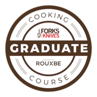 Rouxbe Forks Over Knives Cooking Course Graduate Badge