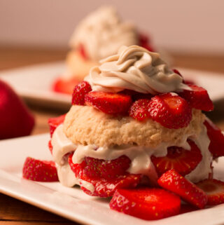 Vegan Strawberry Shortcake with Cashew Cream
