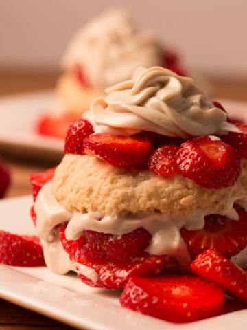 Vegan Strawberry Shortcake with Cashew Cream