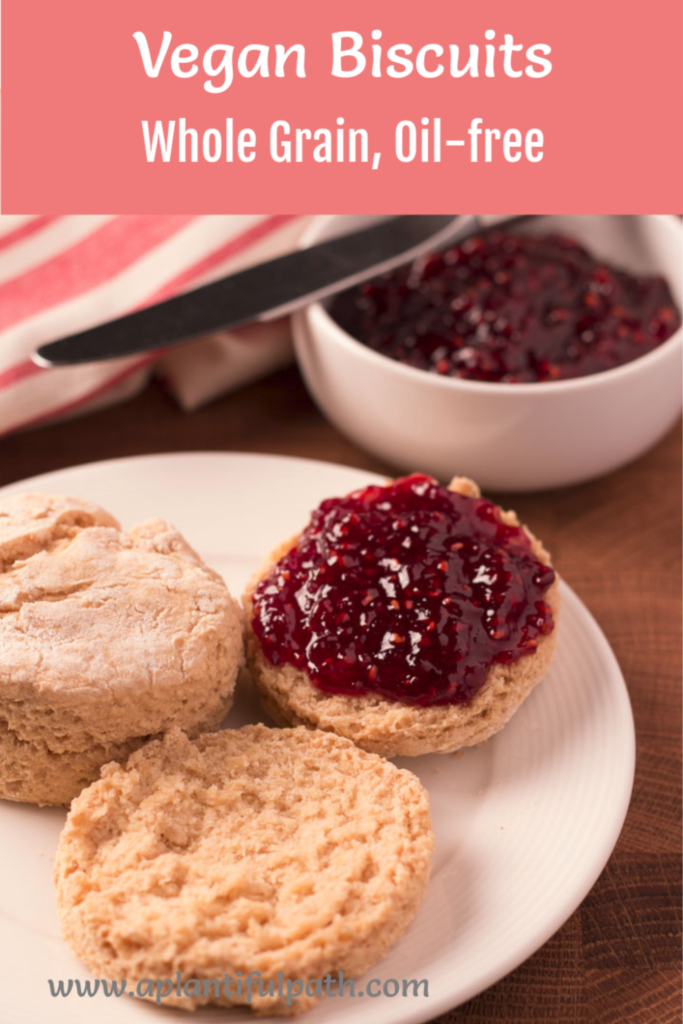 Oil-free Vegan Biscuits with Jam