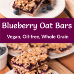 Blueberry Oat Bars with Pinterest Title