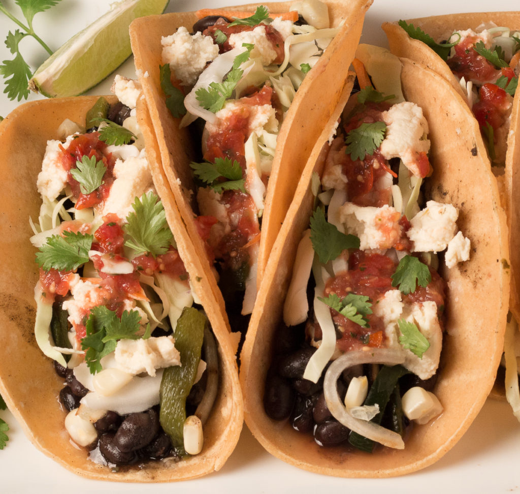 Black Bean and Grilled Veggie Tacos