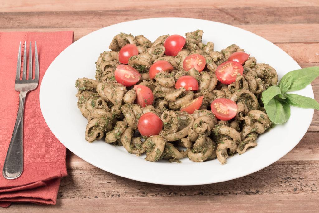 Bowl of Pasta with Easy Vegan Pesto