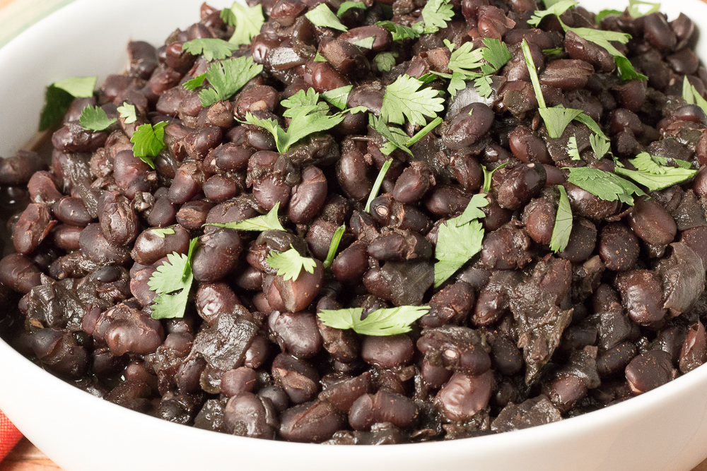 Bowl of Savory Black Beans