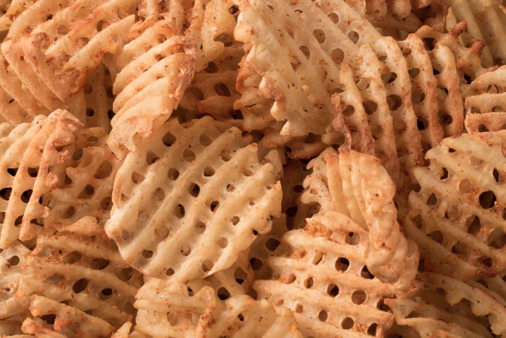 Closeup view of Seasoned Waffle Fries