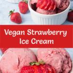 Vegan Strawberry Ice Cream Pinterest