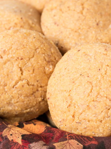 Basket of Vegan Corn Muffins