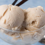 Closeup view of Vegan Vanilla Ice Cream