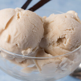 Closeup view of Vegan Vanilla Ice Cream