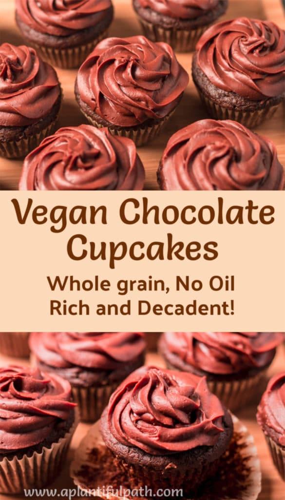 Pinterest image for Vegan Chocolate Cupcakes