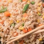 Closeup of vegan fried rice