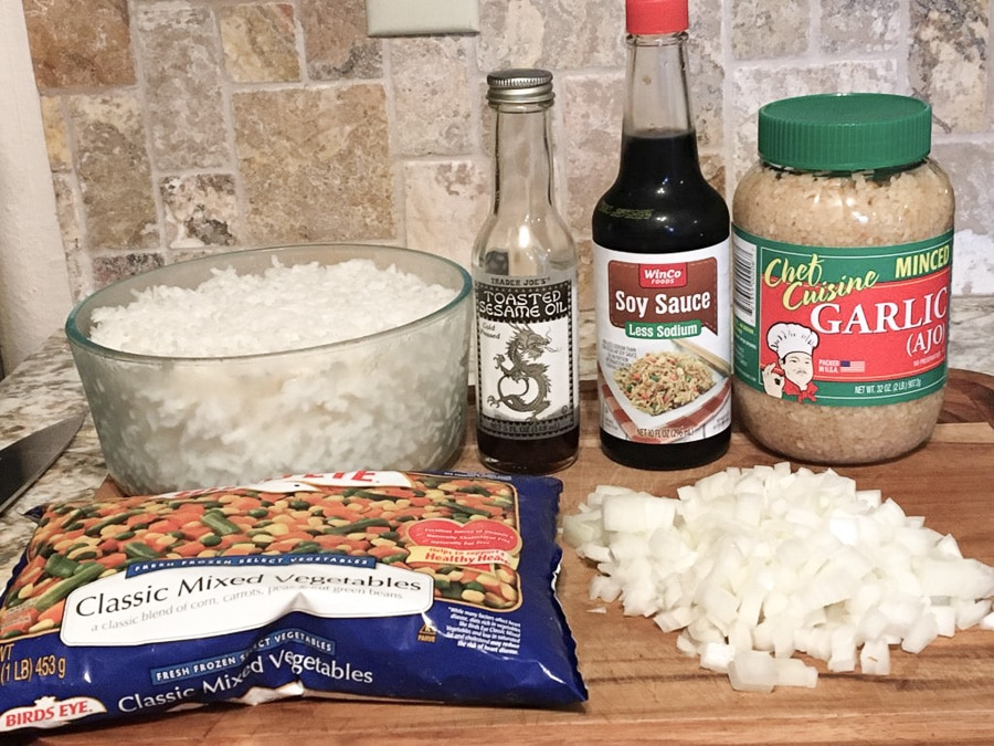 Ingredients for Easy Vegan Fried Rice