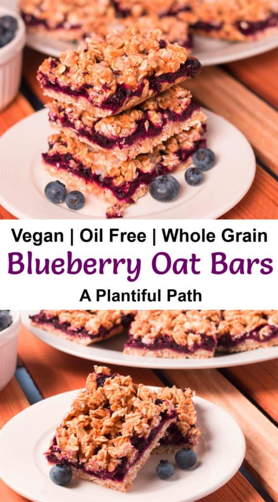 Pinterest image for Blueberry Oat Bars