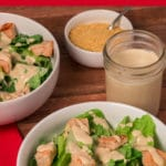 Pinterest image for vegan caesar salad