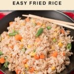 Pinterest image for fried rice