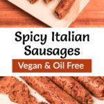 Pinterest image for Vegan Italian Sausages