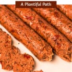 Photo of Italian Sausage with Pinterest title above it