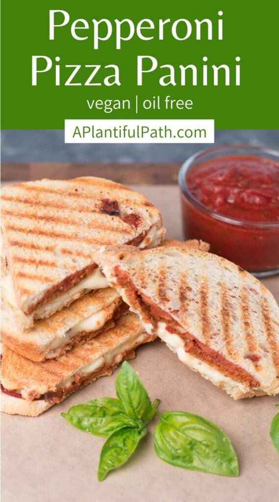 Photo of paninis with Pinterest title above