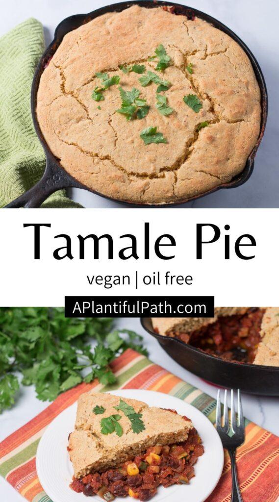 Pinterest Image for Vegan Tamale Pie