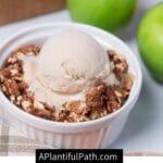 Pinterest image for apple crisp