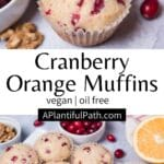 Pinterest Image for Cranberry Muffins