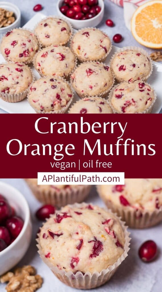 Pinterest image for Cranberry Orange Muffins