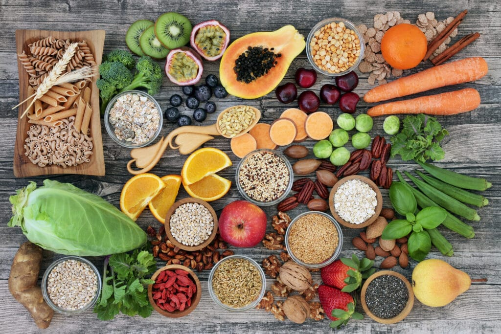 Various foods for those eating a plant based diet