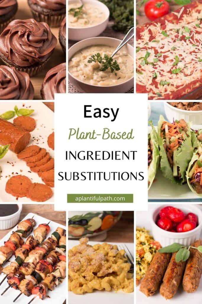 Pinterest image for plant based alternatives