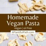 Pinterest image for vegan pasta dough