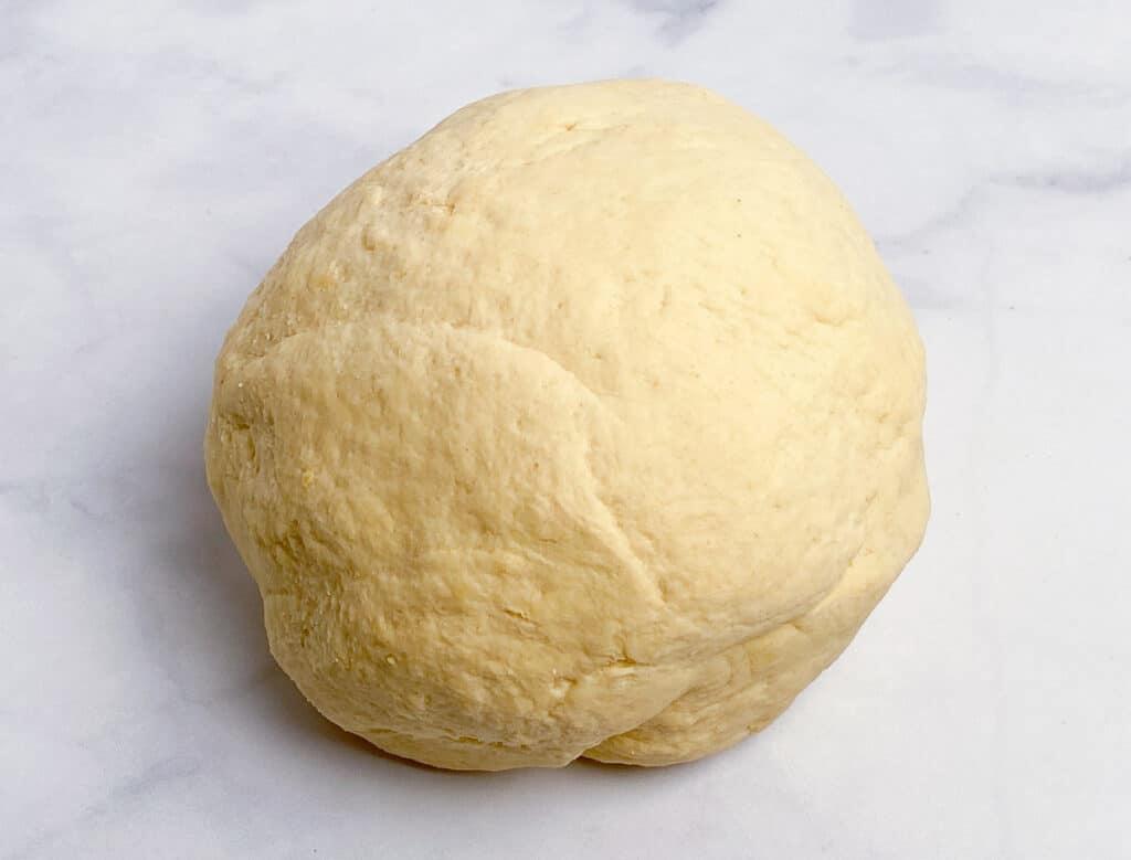 Kneaded ball of dough
