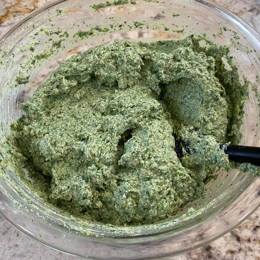bowl of spinach tofu ricotta
