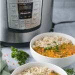Pinterest image for red lentil dal