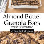 Pinterest image for vegan granola bars