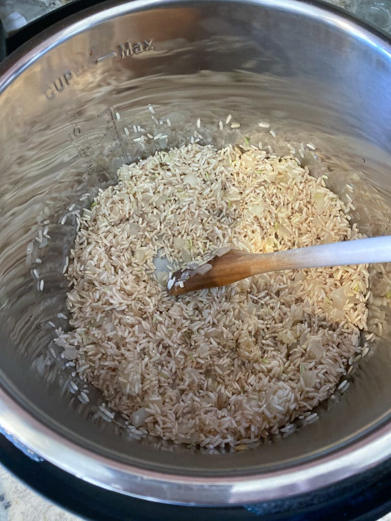Rice toasting in Instant Pot