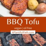 Pinterest image for BBQ Tofu