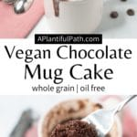 Pinterest Image for Chocolate Mug Cake