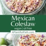 Pinterest image for Mexican Coleslaw