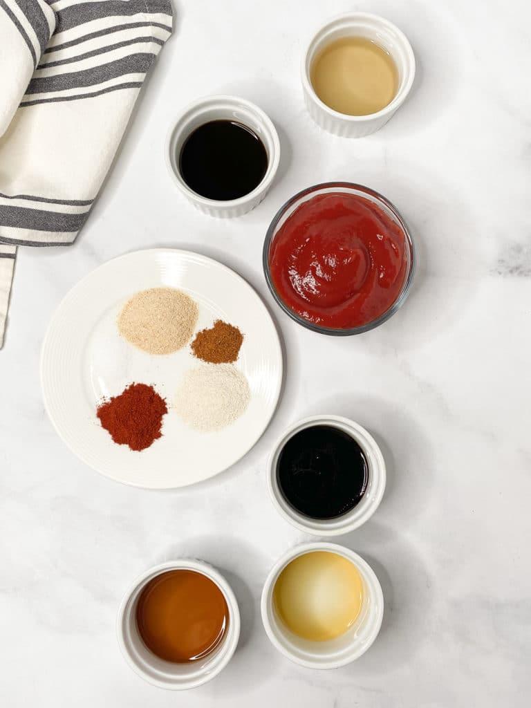 Ingredients for vegan BBQ sauce