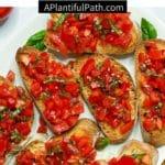 Pinterest image for tomato bruschetta