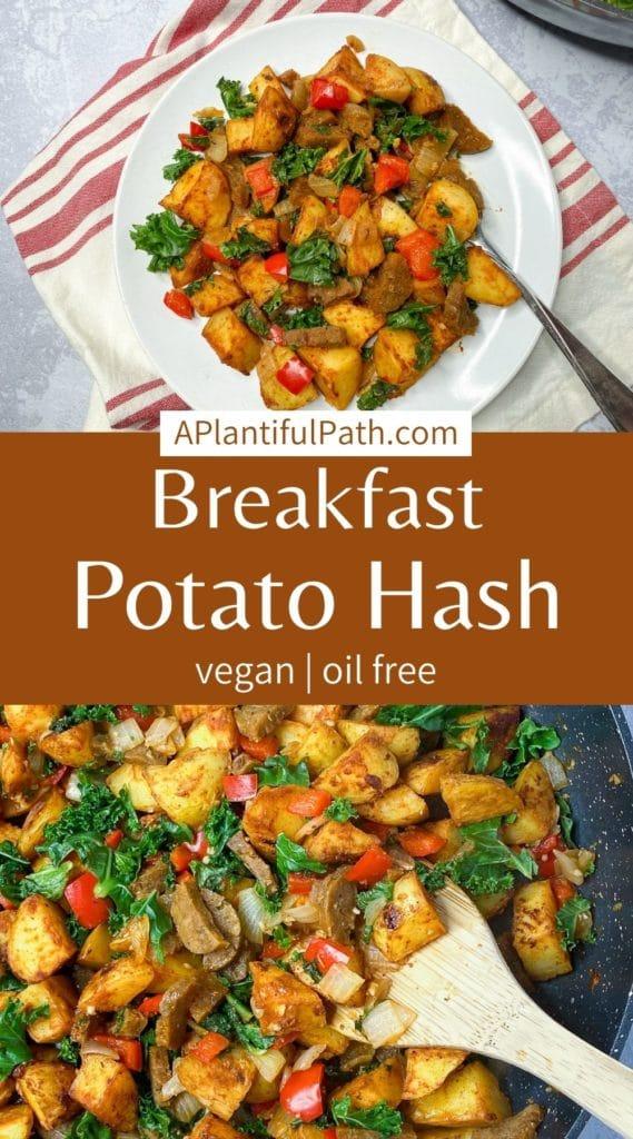 Pinterest image for Vegan Breakfast Hash